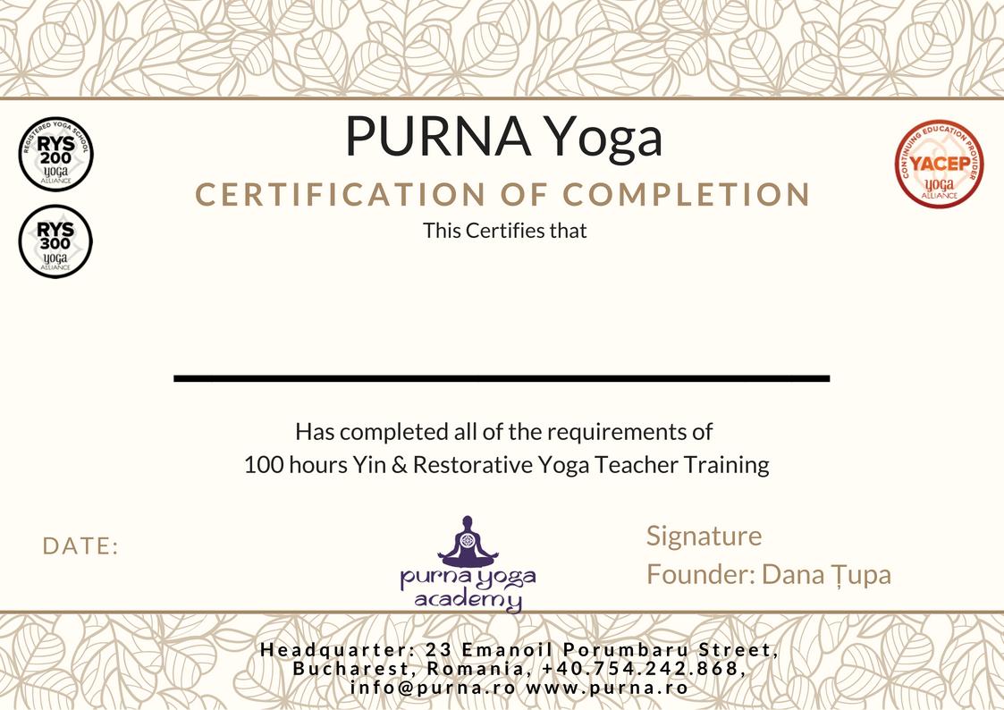 Yin Restorative Yoga Teacher Training 100 Hours Purna Yoga Academy