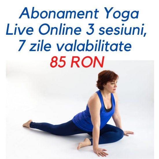 Abonament 3 sesiuni yoga